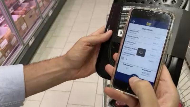 Scanner-App statt Supermarkt-Kasse (Foto: SAT.1 NRW)