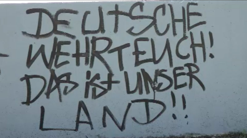 Erneut Nazi-Schmierereien in Herten (Foto: SAT.1 NRW)