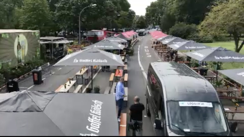 Neuer Pop-Up Biergarten in Köln (Foto: SAT.1 NRW)