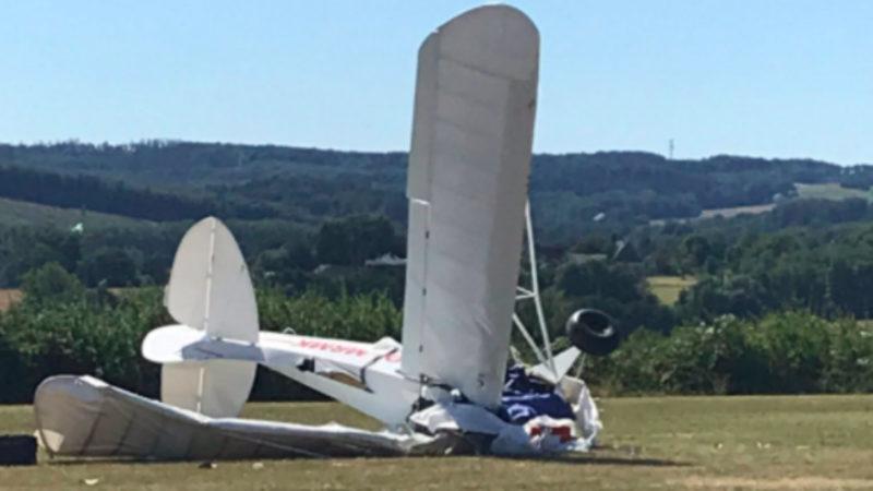 Flugzeugabsturz in Iserlohn (Foto: SAT.1 NRW)