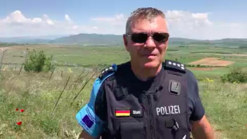 NRW-Polizisten auf Frontex-Mission (Foto: SAT.1 NRW)