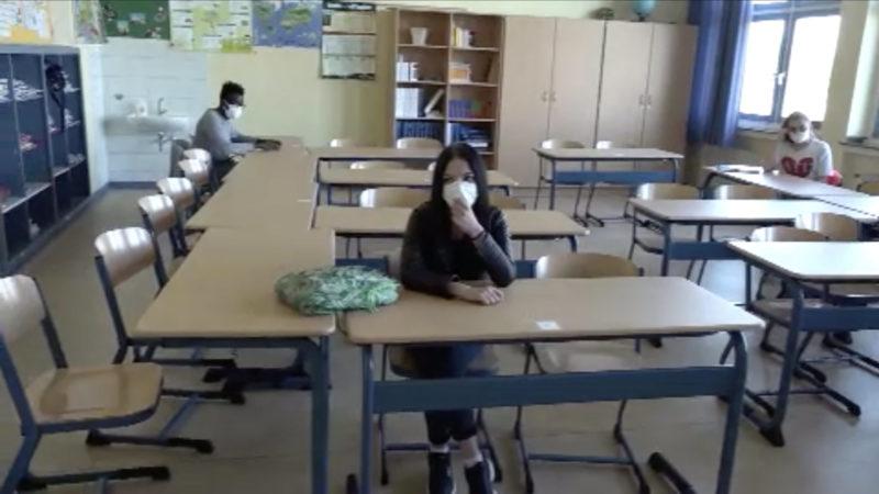 Schulstart mit Maskenpflicht (Foto: SAT.1 NRW)