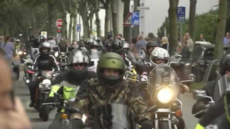 Motorrad-Korso für Krebspatienten (Foto: SAT.1 NRW)