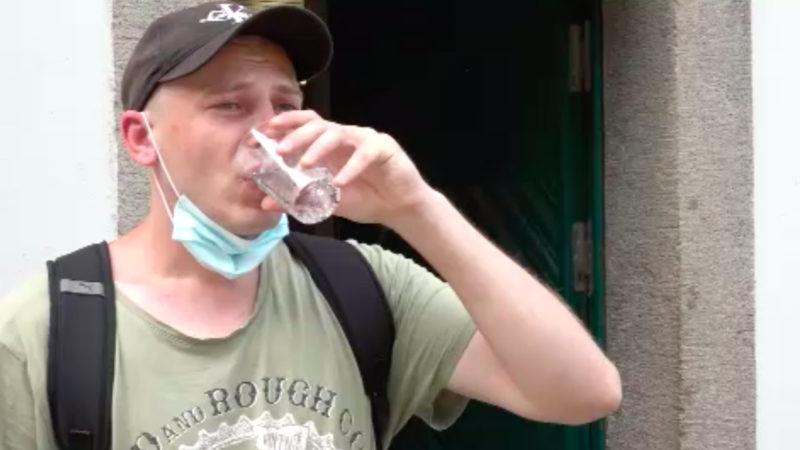 Hitze gefährdet Obdachlose (Foto: SAT.1 NRW)