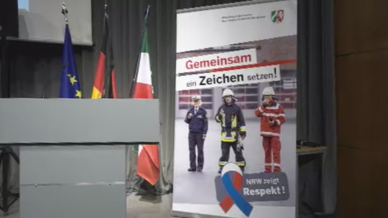 Mehr Respekt für Polizei und Rettungskräfte (Foto: SAT.1 NRW)