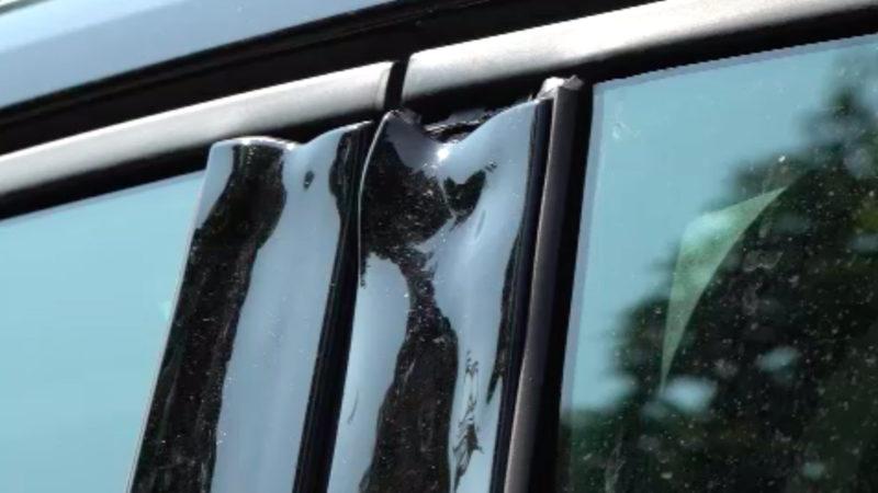 Hitze lässt Auto schmelzen (Foto: SAT.1 NRW)
