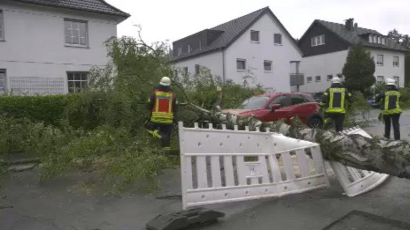 Sturm Kirsten fegt über NRW (Foto: SAT.1 NRW)