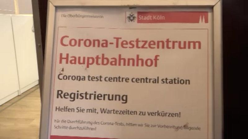 Neues Testzentrum in Köln (Foto: SAT.1 NRW)