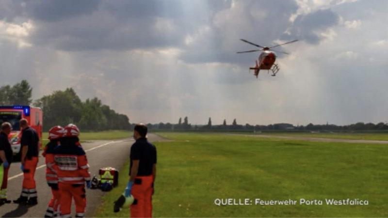 Tödlicher Flugzeugabsturz (Foto: SAT.1 NRW)