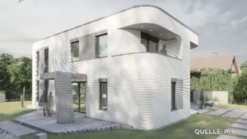 Deutschlands erstes 3D-Druckhaus (Foto: SAT.1 NRW)