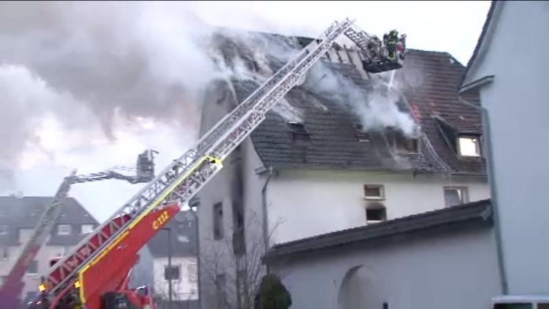 Feuer in Mehrfamilienhaus in Gelsenkirchen (Foto: SAT.1 NRW)