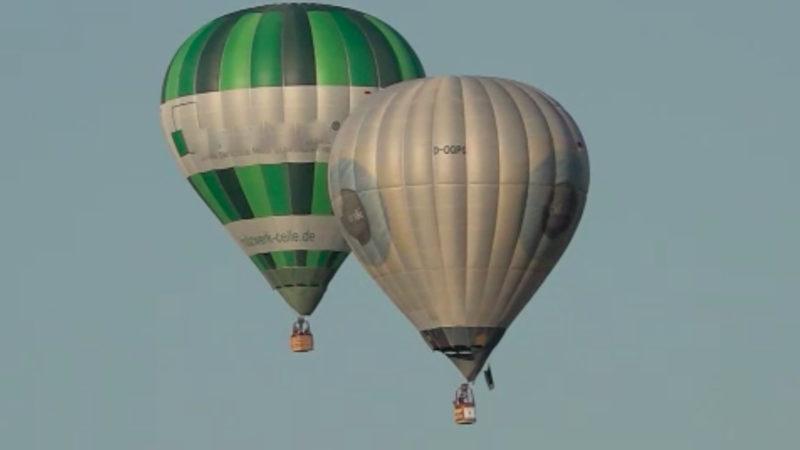 So schön startete die Warstein Ballon Challenge (Foto: SAT.1 NRW)