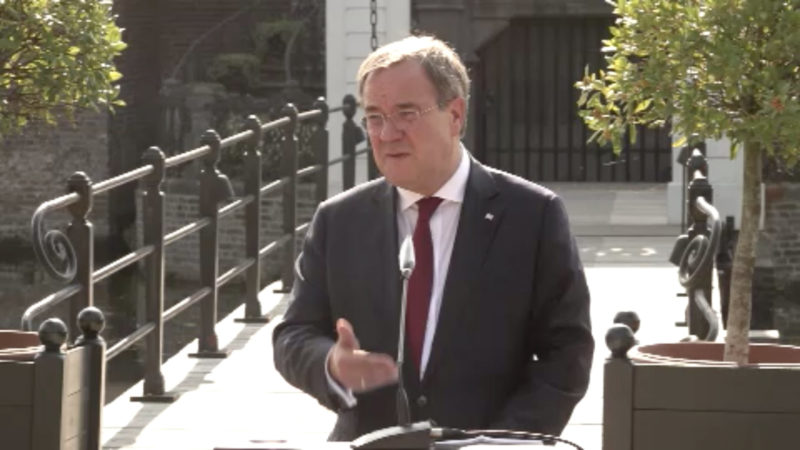Minister diskutieren über neue Corona-Maßnahmen (Foto: SAT.1 NRW)