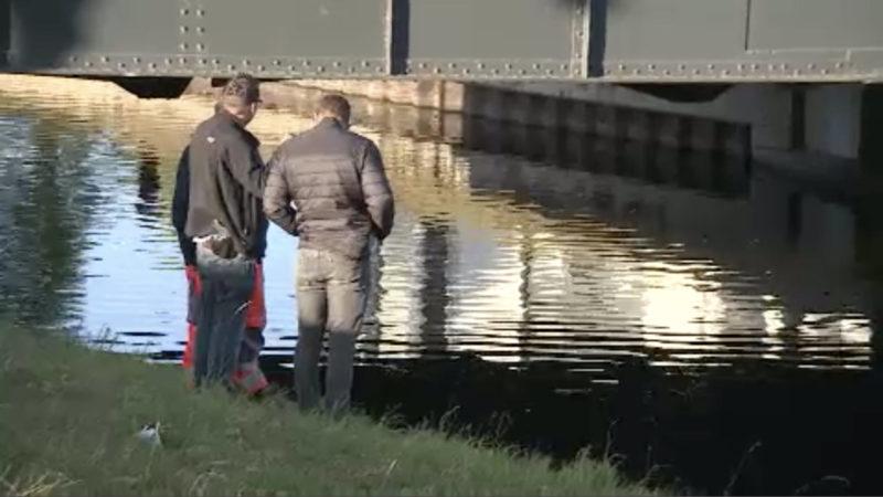 Leiche im Kanal gefunden (Foto: SAT.1 NRW)