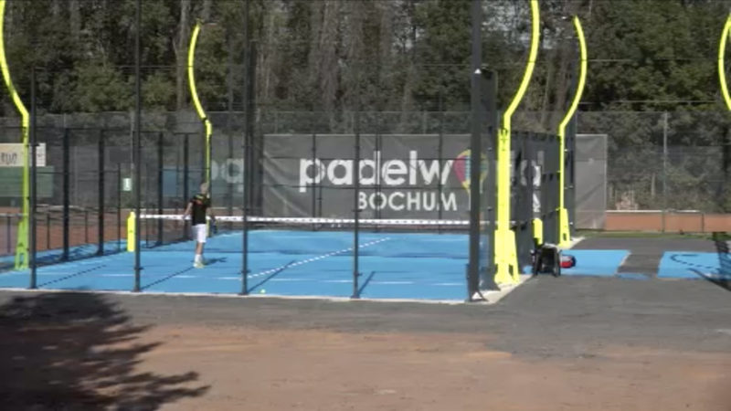 Größte Open-Air Padel-Tennis Anlage in Bochum (Foto: SAT.1 NRW)