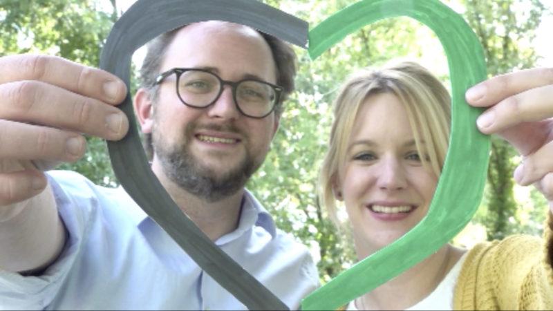 Schwarz-Grünes Politik-Paar aus Menden (Foto: SAT.1 NRW)