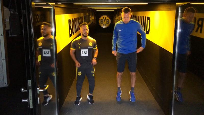 Fitnesskurse im BVB-Stadion (Foto: SAT.1 NRW)