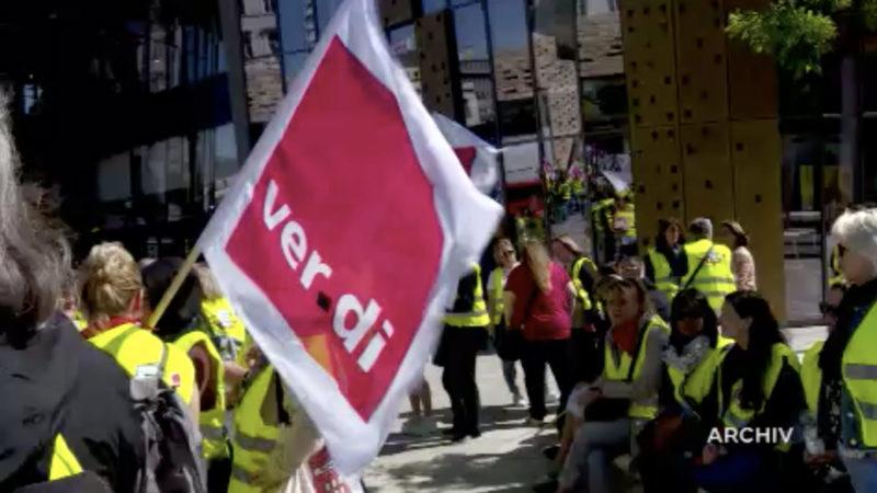 Verdi fordert zum Streik auf (Foto: SAT.1 NRW)