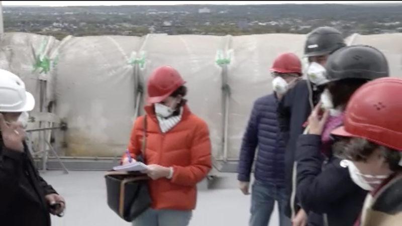 NRW- Bauministerin besucht Gasometer-Baustelle (Foto: SAT.1 NRW)