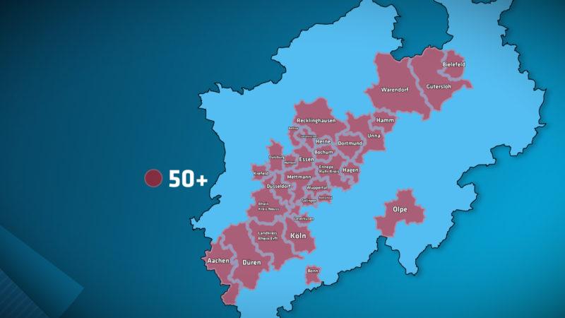 Inzidenzwert über 100 - was droht den Städten jetzt? (Foto: SAT.1 NRW)
