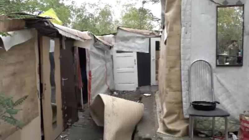 Roma-Camp wird abgerissen (Foto: SAT.1 NRW)