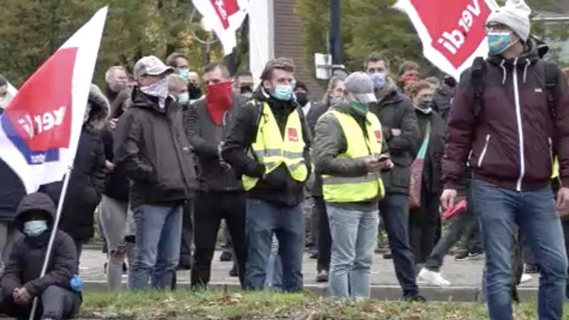 Streik im Hotspot (Foto: SAT.1 NRW)