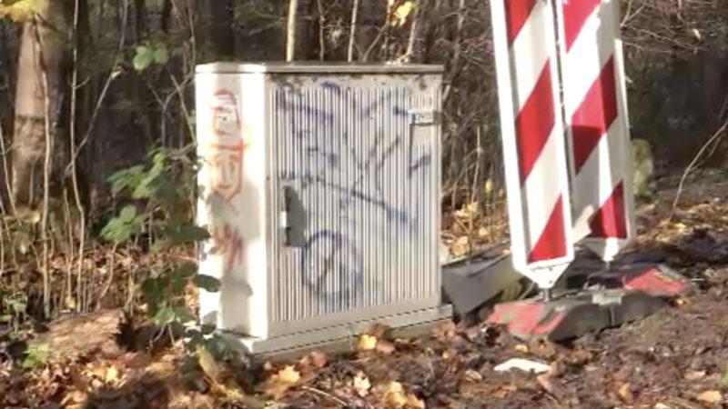 Stromkasten in Bochum gesprengt (Foto: SAT.1 NRW)