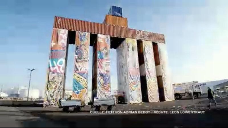 Containerkunst von Leon Löwentraut (Foto: SAT.1 NRW)