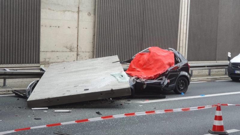 Straßen NRW prüft Lärmschutzwaende (Foto: SAT.1 NRW)