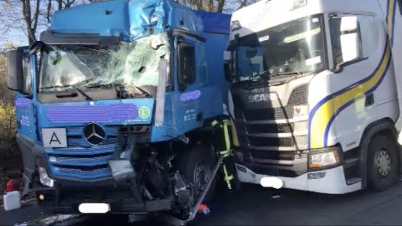Laster-Unfall auf der A1 (Foto: SAT.1 NRW)