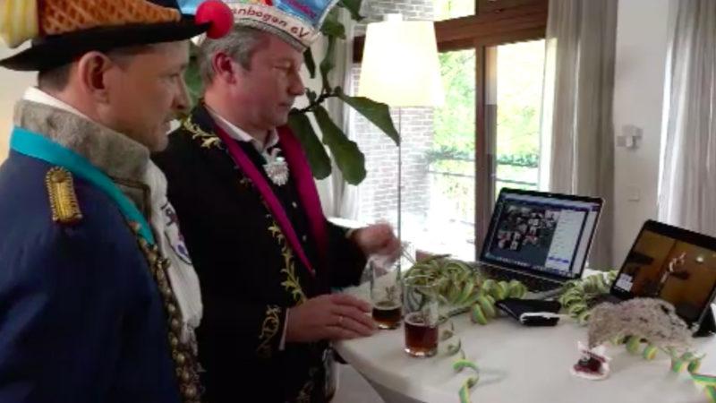 Jecken feiern Online-Karneval (Foto: SAT.1 NRW)