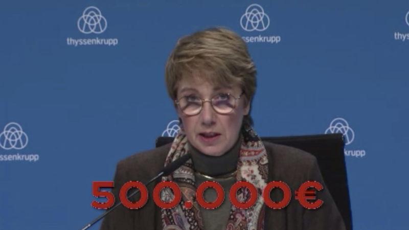 Thyssen-Vorstand kassiert Boni (Foto: SAT.1 NRW)