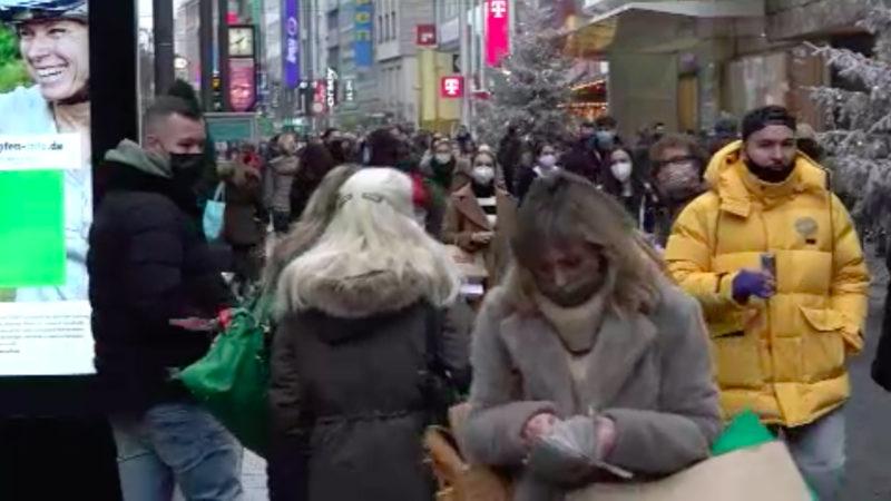 Shopping-Ansturm vor Lockdown? (Foto: SAT.1 NRW)
