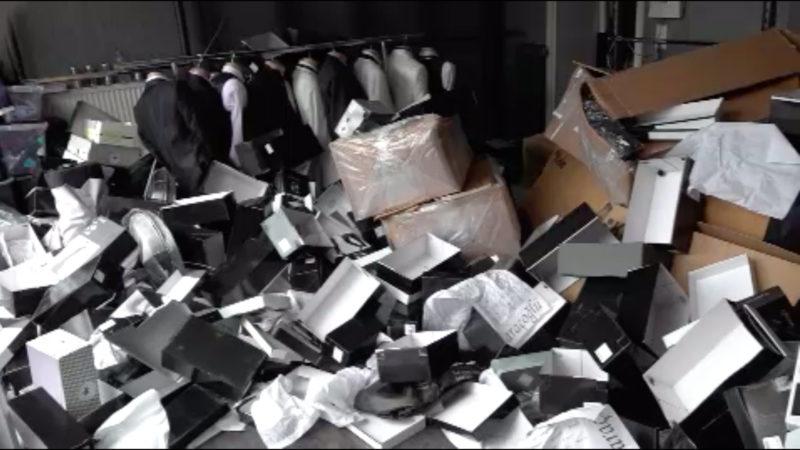 Einbrecher verwüsten Brautmodengeschäft (Foto: SAT.1 NRW)