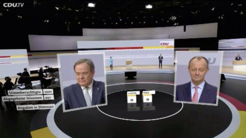 Partei-Reaktionen zu Armin Laschets Sieg (Foto: SAT.1 NRW)