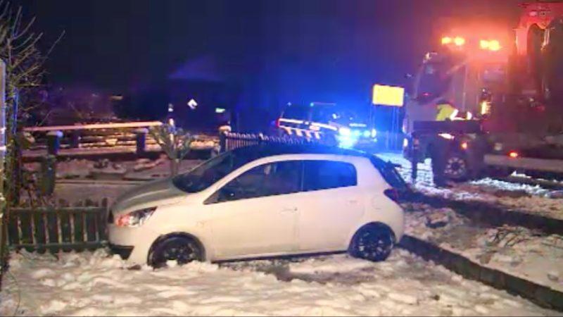 Blitzeis sorgt für Verkehrsunfälle (Foto: SAT.1 NRW)