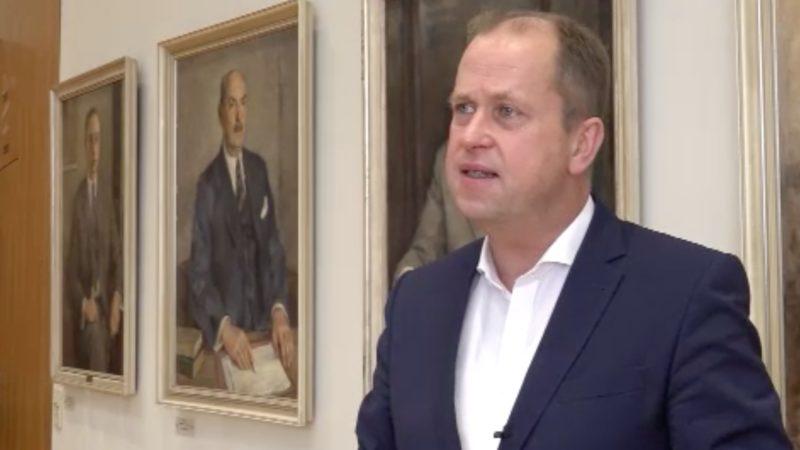 Interview mit Joachim Stamp (Foto: SAT.1 NRW)