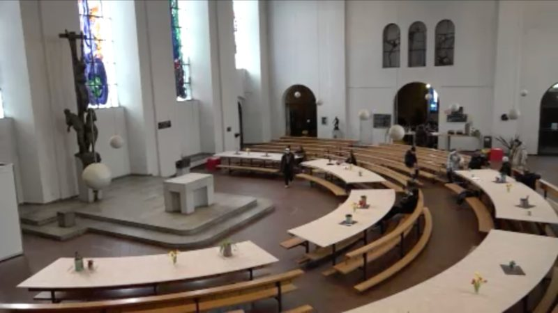 Kirche ist Zufluchtsort für Obdachlose in Corona-Zeiten (Foto: SAT.1 NRW)