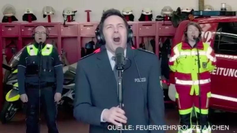 Der singende Polizist ist zurück (Foto: SAT.1 NRW)