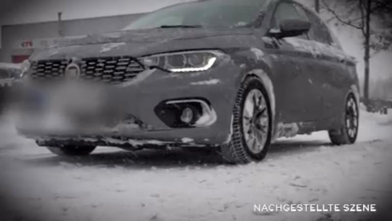 Missglückter Autoklau im Schnee (Foto: SAT.1 NRW)