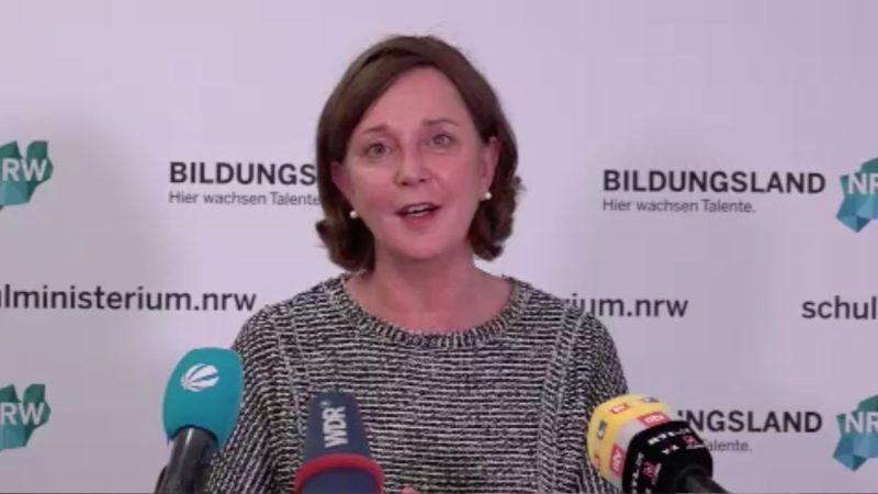 Neues von Schulministerin Gebauer (Foto: SAT.1 NRW)
