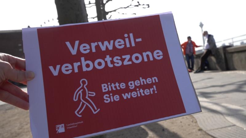 Verweilverbot in Düsseldorf (Foto: SAT.1 NRW)