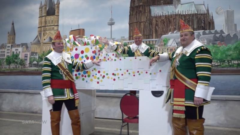 Miniatur-Karneval vorgestellt (Foto: SAT.1 NRW)