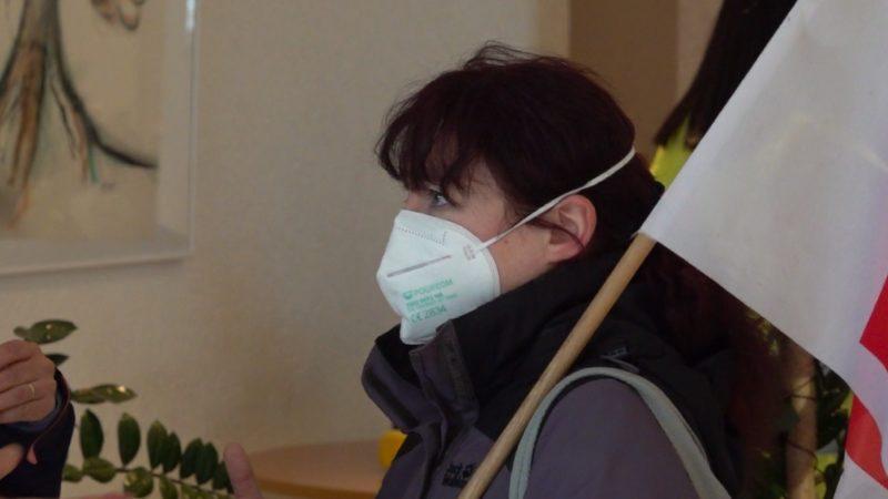 Krankenschwester kämpft für Masken-Pause (Foto: SAT.1 NRW)