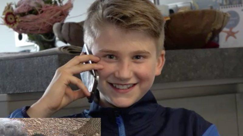 11-Jähriger hilft Mitmenschen in Corona-Not (Foto: SAT.1 NRW)