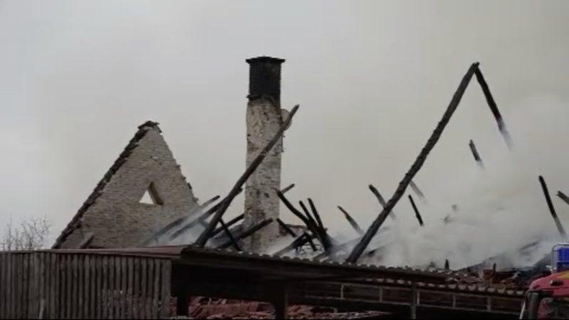 Bauernhof brennt ab - Held rettet Tiere (Foto: SAT.1 NRW)