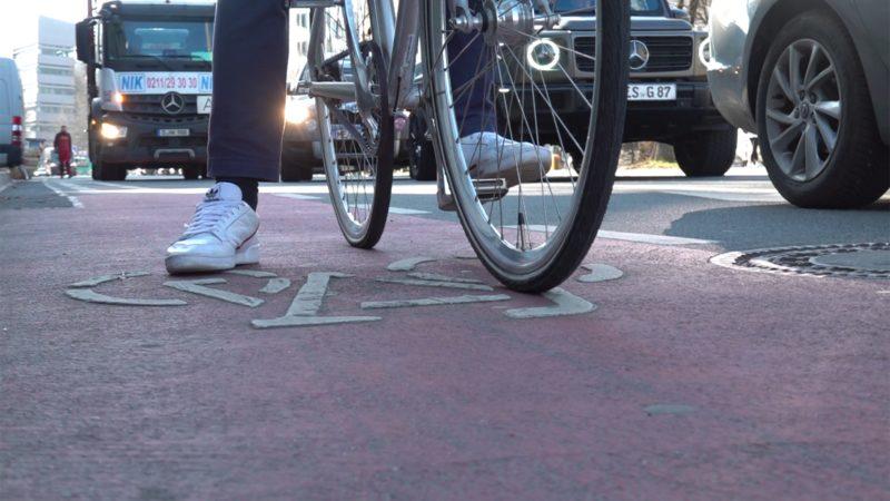 Schlechtes Fahrrad-Klima in Köln (Foto: SAT.1 NRW)