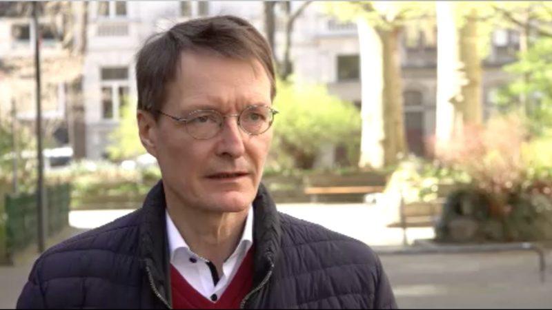 Interview mit Gesundheitsexperte Lauterbach (Foto: SAT.1 NRW)