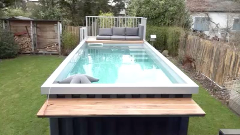 Aus Container wird Pool (Foto: SAT.1 NRW)