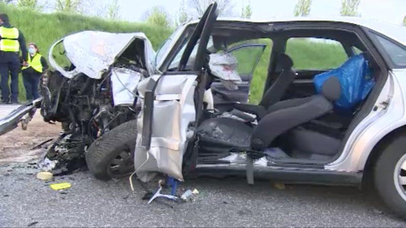 Schwerer Autounfall in Wesel (Foto: SAT.1 NRW)